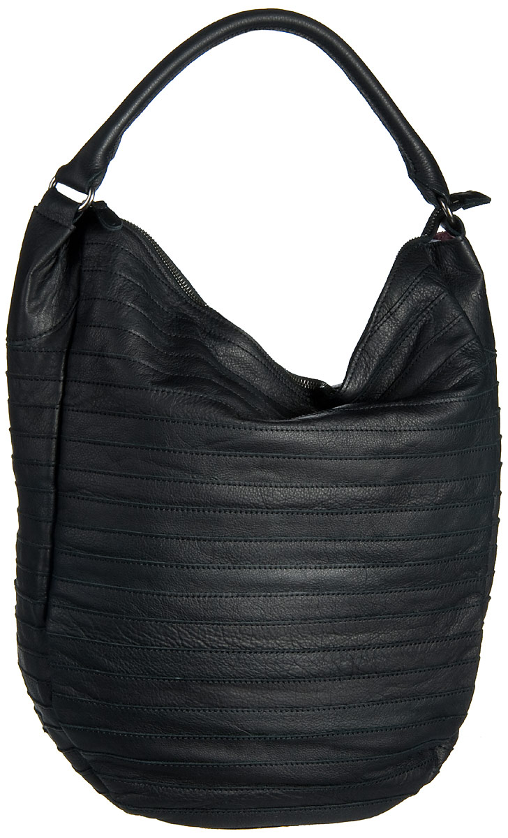 Fredsbruder Handtasche Gürteltier Black (innen: Rosa) - Beuteltasche / Hobo Bag, Handtaschen 18-97B-01