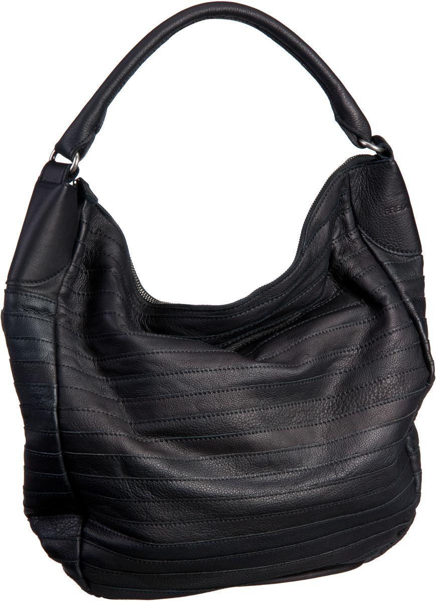 Fredsbruder Handtasche Gürteltier HW Black (innen: Violett) - Beuteltasche / Hobo Bag, Handtaschen 18-97C-01