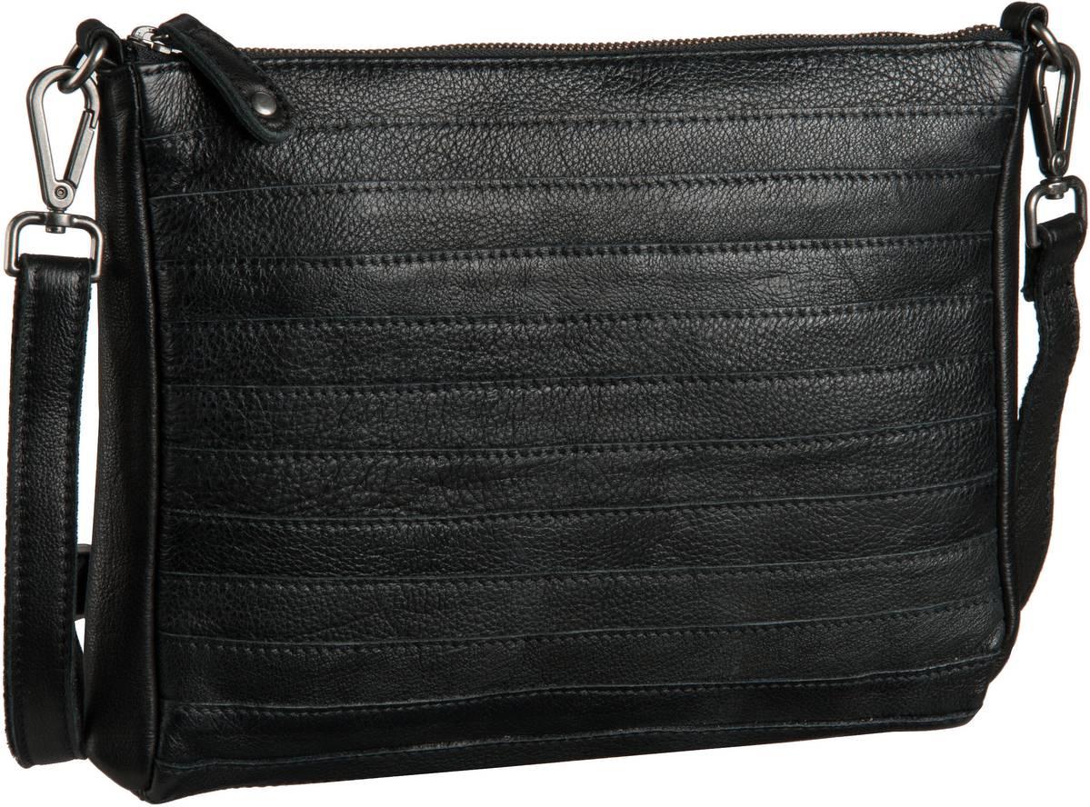 Fredsbruder Handtasche Gürteltier Crossbody Black (innen: Flieder) - Abendtaschen, Handtaschen 18-607-01