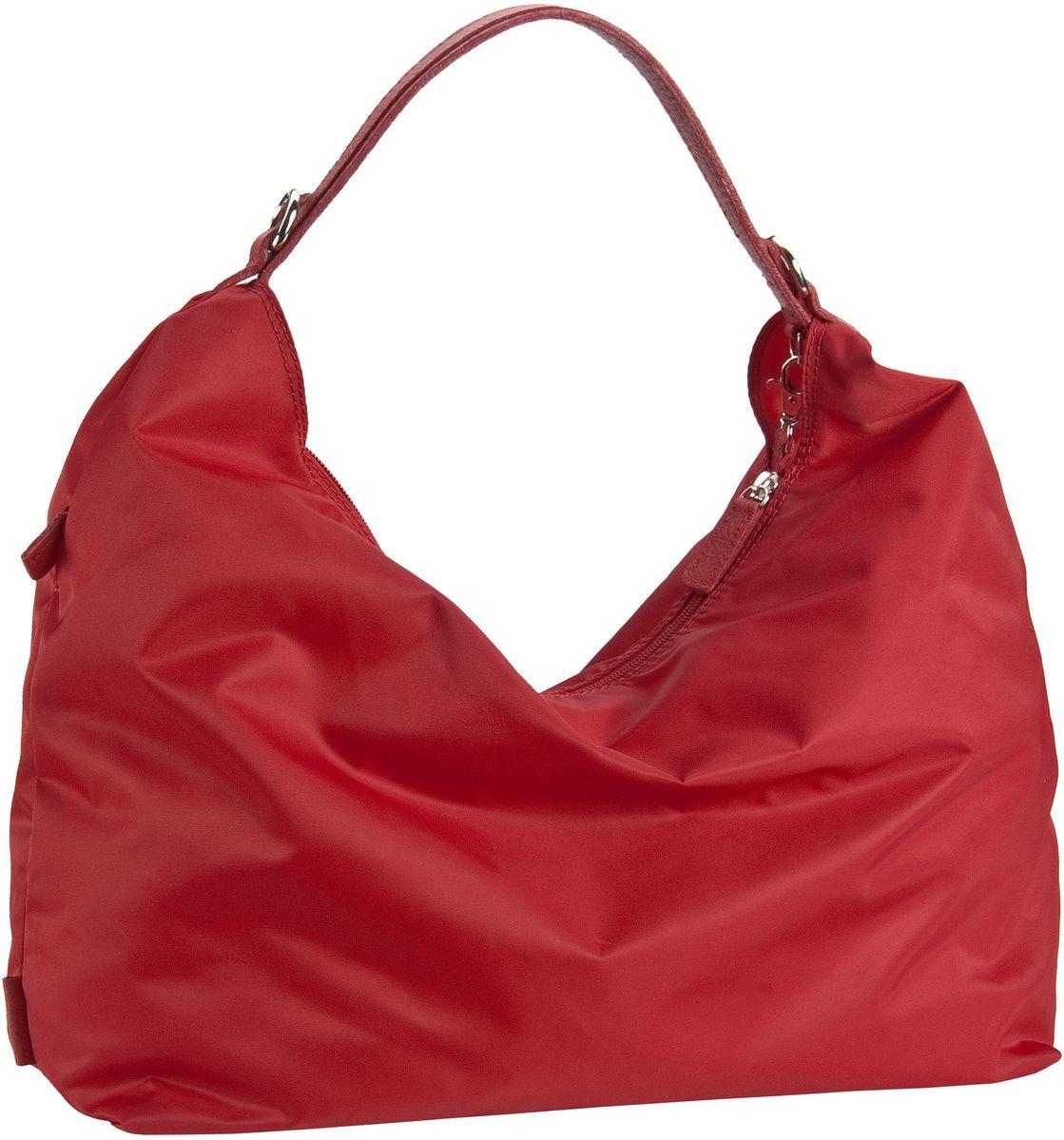 Jost Handtasche Tofino 1998 Reißverschluss-Handtasche Seal Red - Beuteltasche / Hobo Bag, Handtaschen