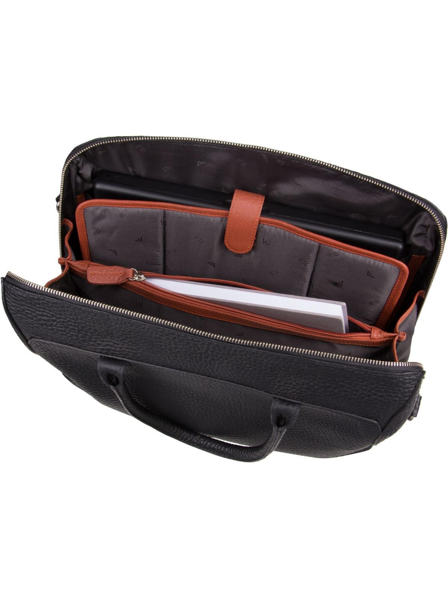 Voi Hirsch 20891 Laptoptasche Aktentasche Leder Notebooktasche Damentasche