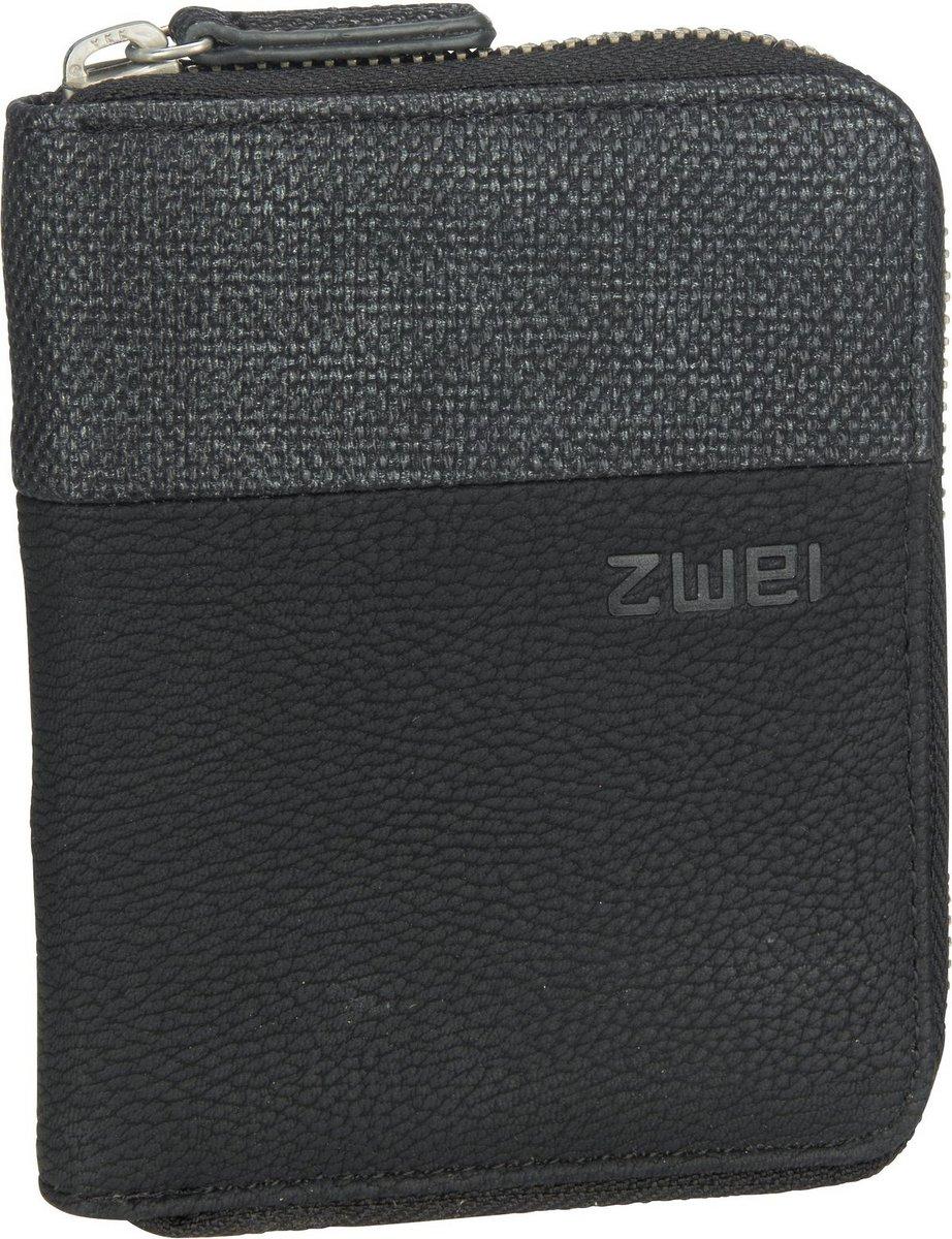 Geldboersen - zwei Geldbörse Eva EVW10 Nubuk Black  - Onlineshop Taschenkaufhaus
