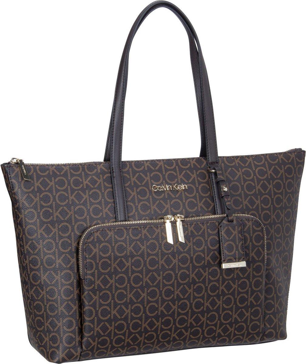 calvin klein -  Handtasche CK Must Shopper LG Mono FA21 Brown Mono (11.6 Liter)