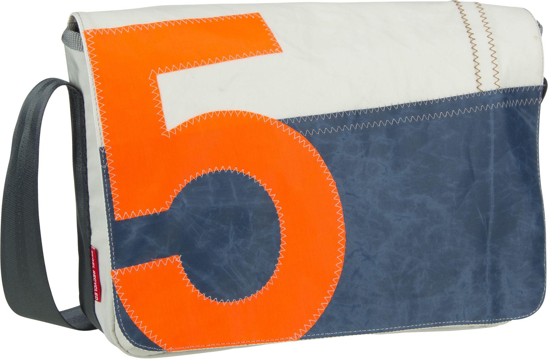 Umhängetasche Barkasse Mini Blau mit oranger Zahl (15 Liter)