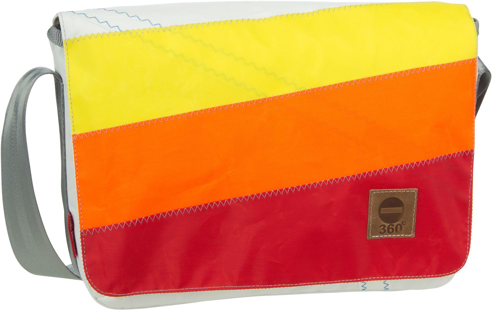 Umhängetasche Barkasse Mini Gelb/Orange/Rote Streifen (15 Liter)