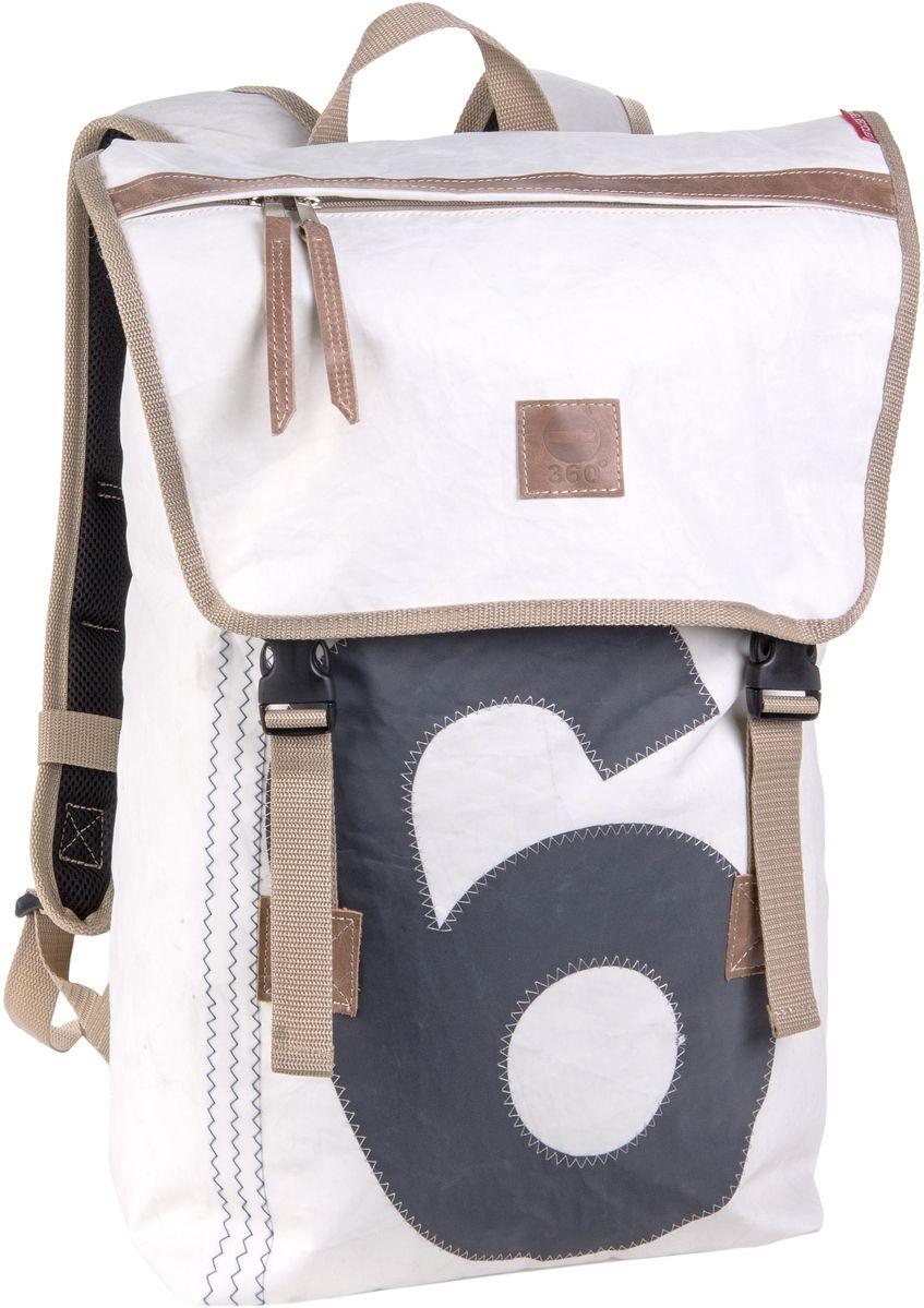 Rucksack / Daypack Rucksack Weiß mit grauer Zahl