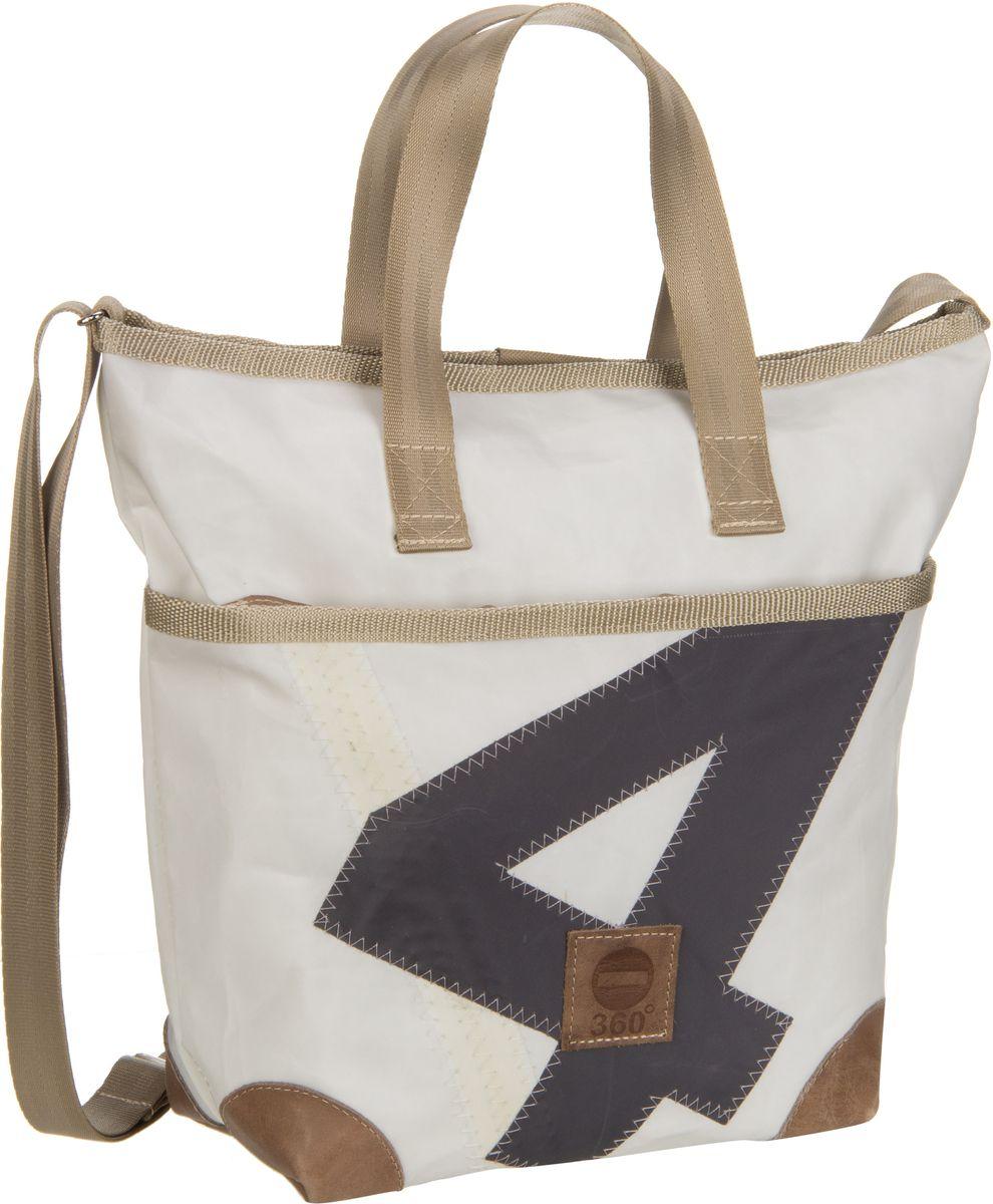 Handtasche Deern Mini Weiß mit grauer Zahl