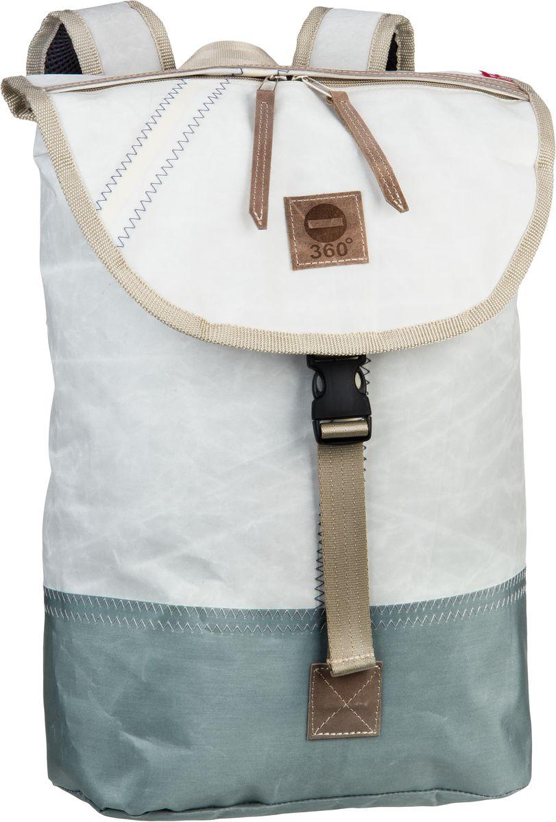 Rucksack / Daypack Landgang Mini Rucksack Weiß mit grauen Balken