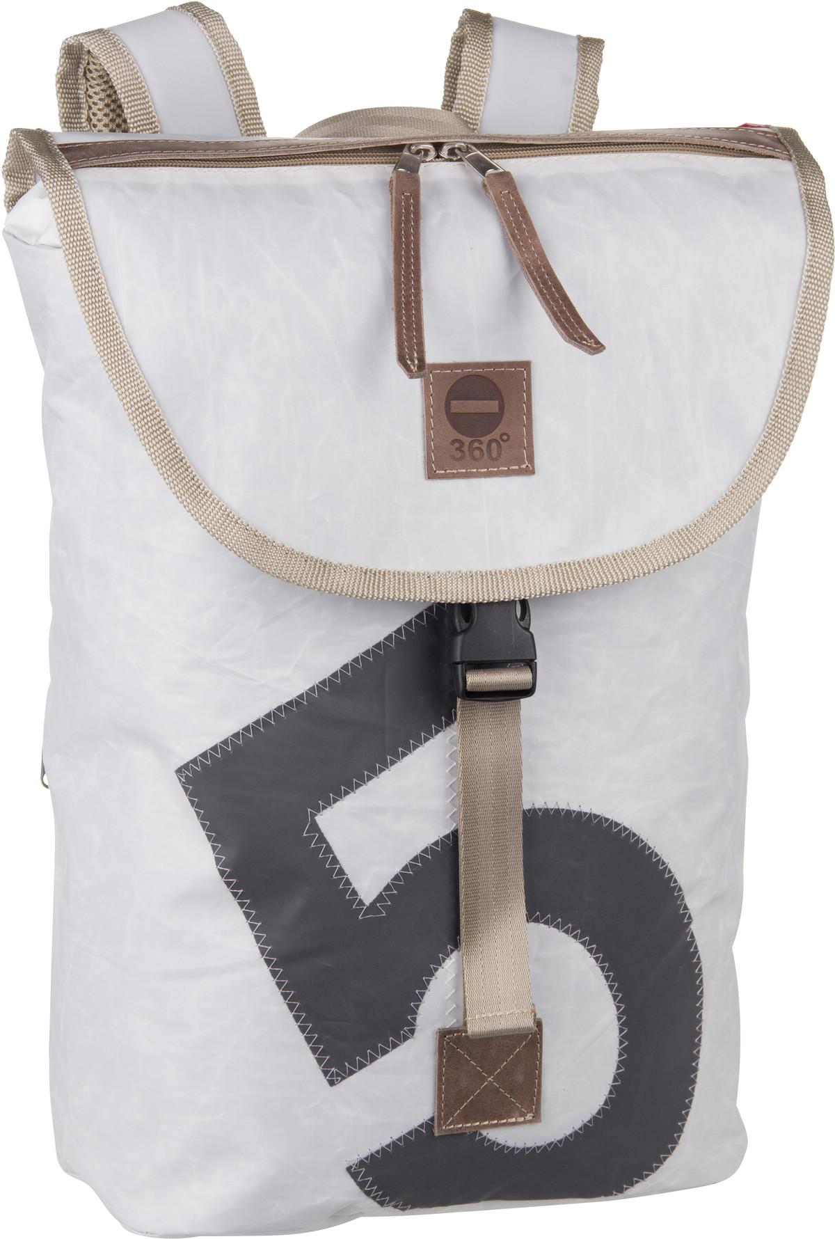 Rucksack / Daypack Landgang Mini Rucksack Weiß mit grauer Zahl