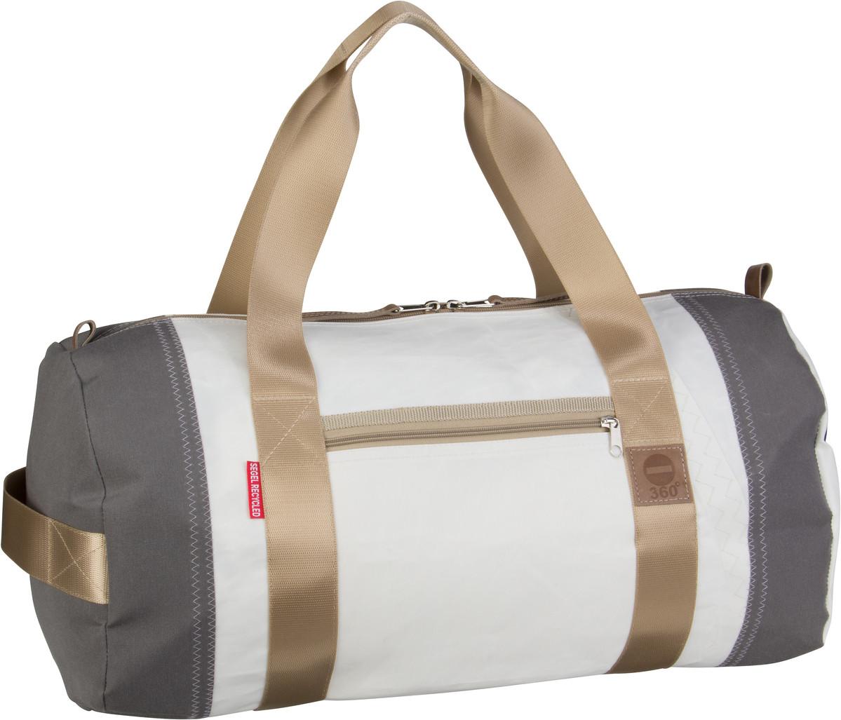 Reisegepaeck für Frauen - 360Grad Reisetasche Pirat Weiß Grau (36 Liter)  - Onlineshop Taschenkaufhaus