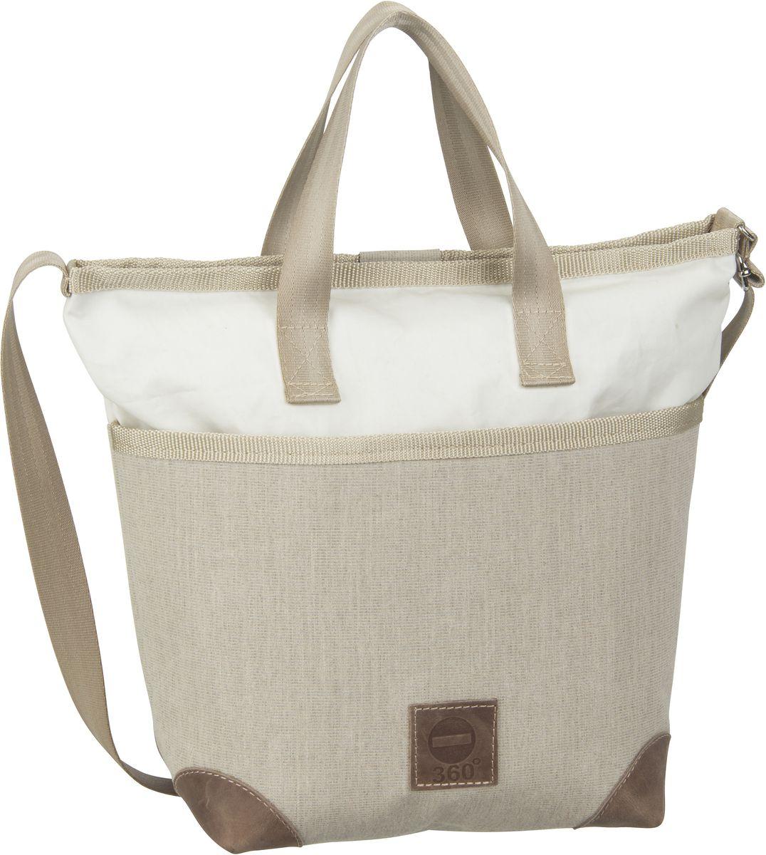 Handtasche Deern Mini Persenning Beige/Weiß