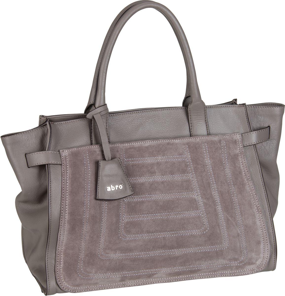 Kiekebusch Angebote abro Suede Quilted 27643 Zinc - Handtasche