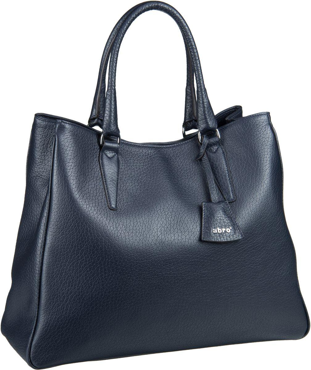 Handtaschen für Frauen - abro Handtasche Vitello Cervo 27917 Navy  - Onlineshop Taschenkaufhaus