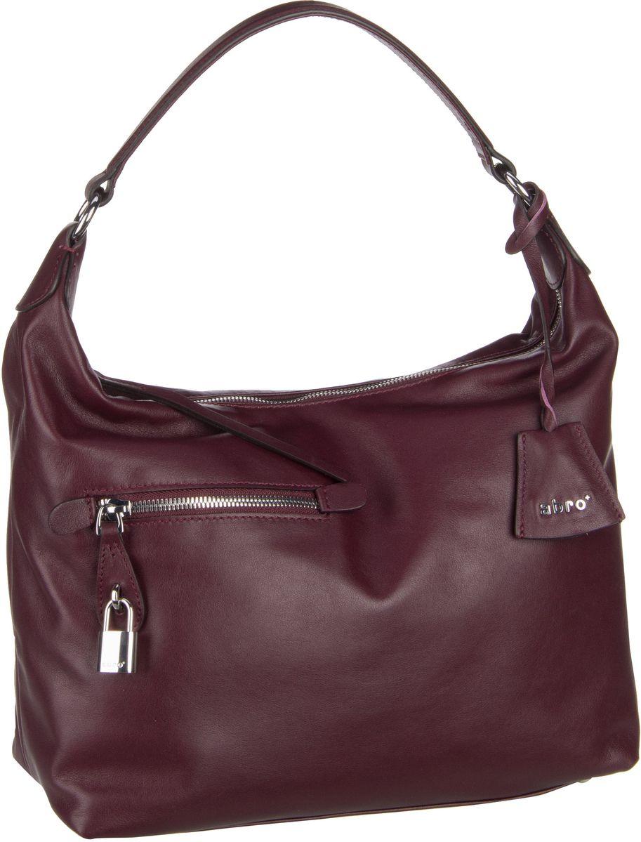 Handtaschen für Frauen - abro Handtasche Nappa Lotus 28201 Burgundy  - Onlineshop Taschenkaufhaus