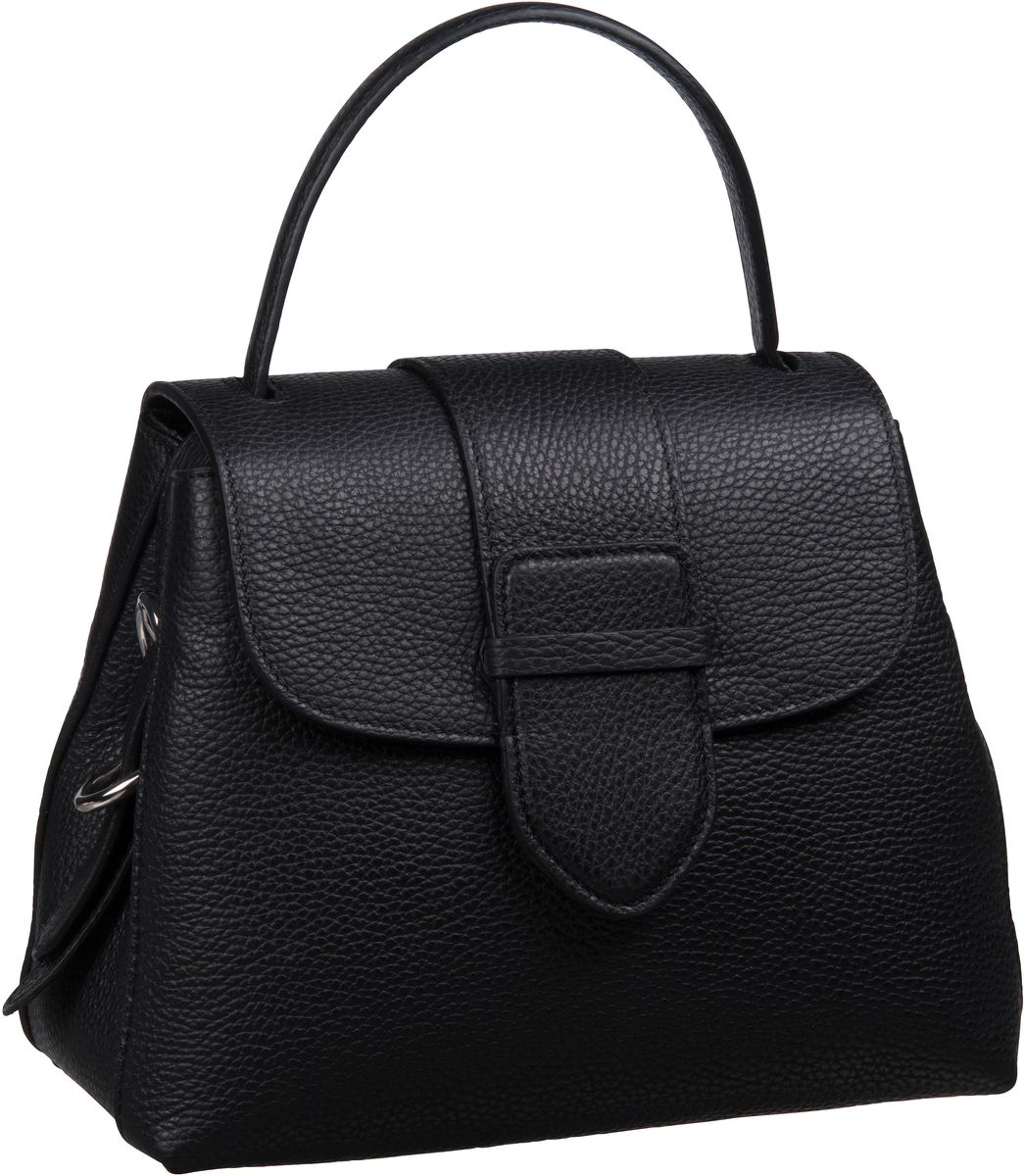 Handtasche Calf Adria 28178 Black/Nickel