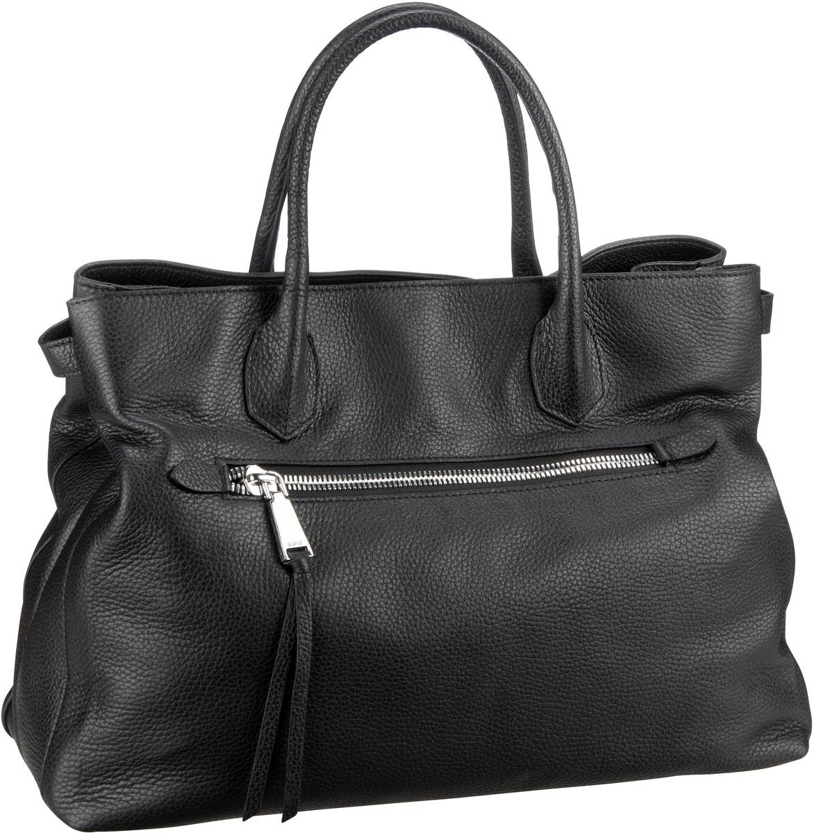 Handtasche Calf Adria 28170 Black/Nickel