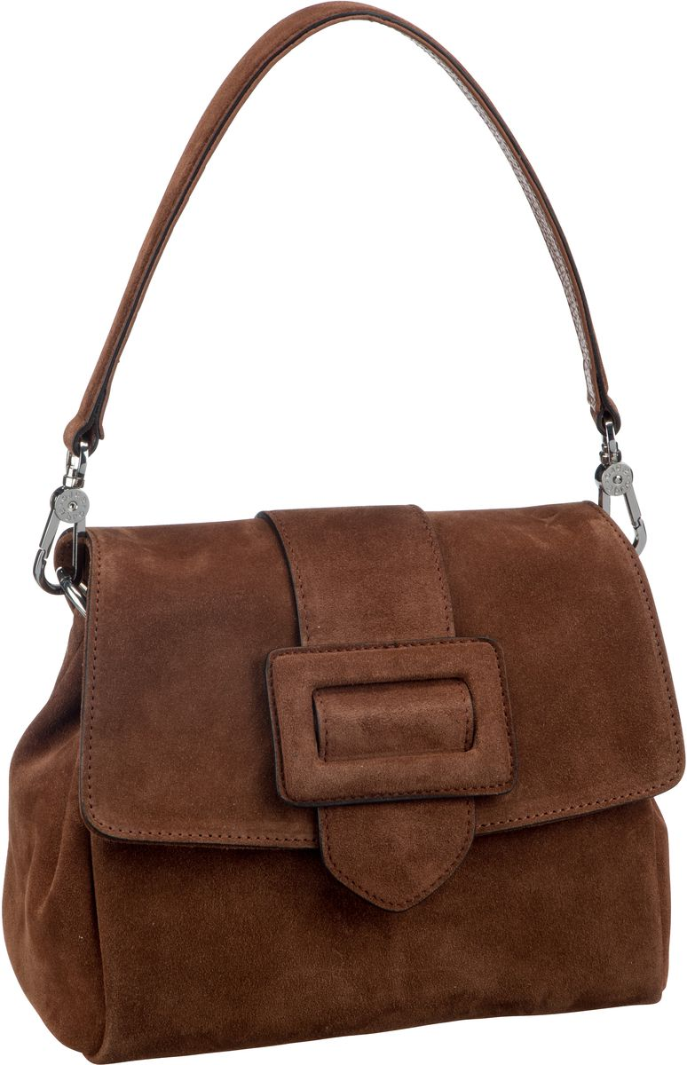 Handtasche Suede 28423 Cognac