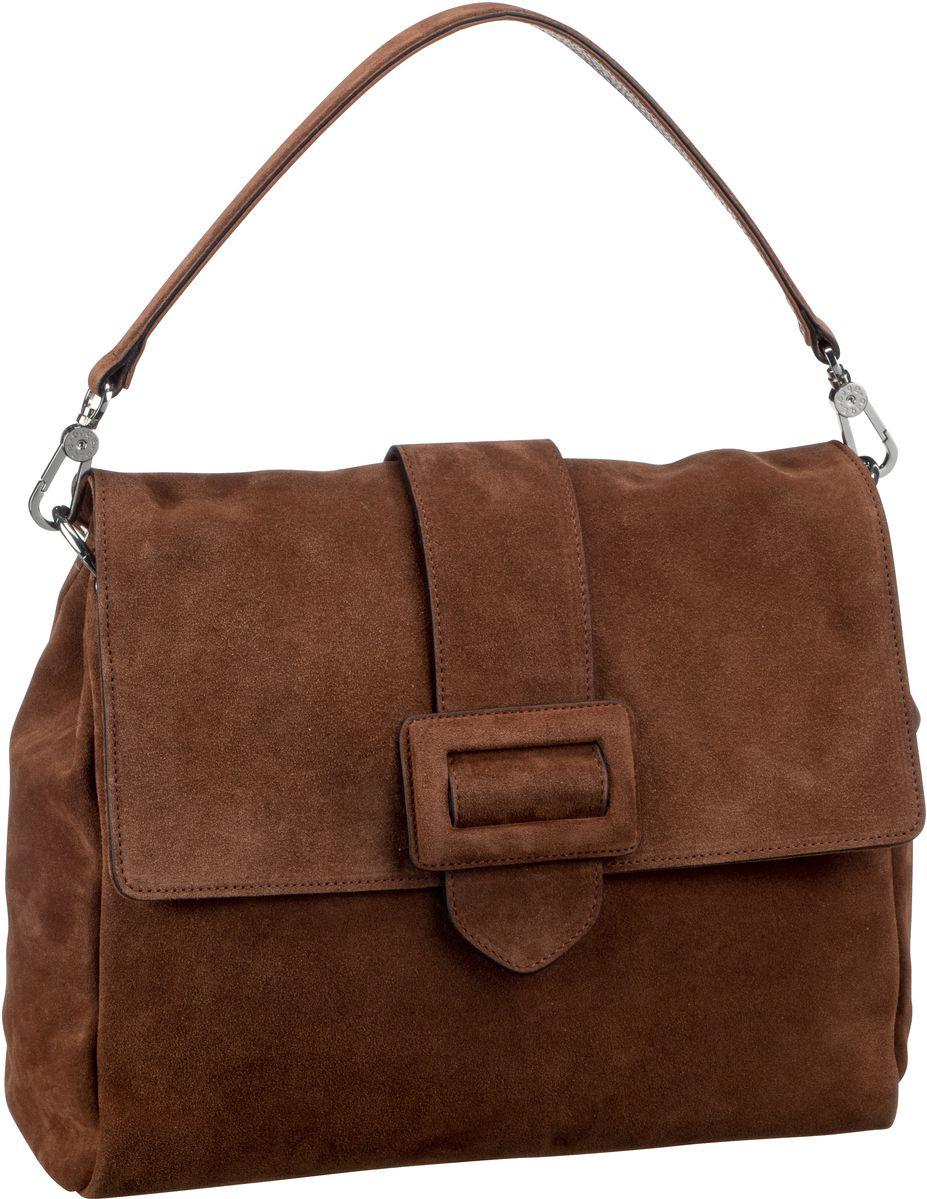 Handtasche Suede 28424 Cognac