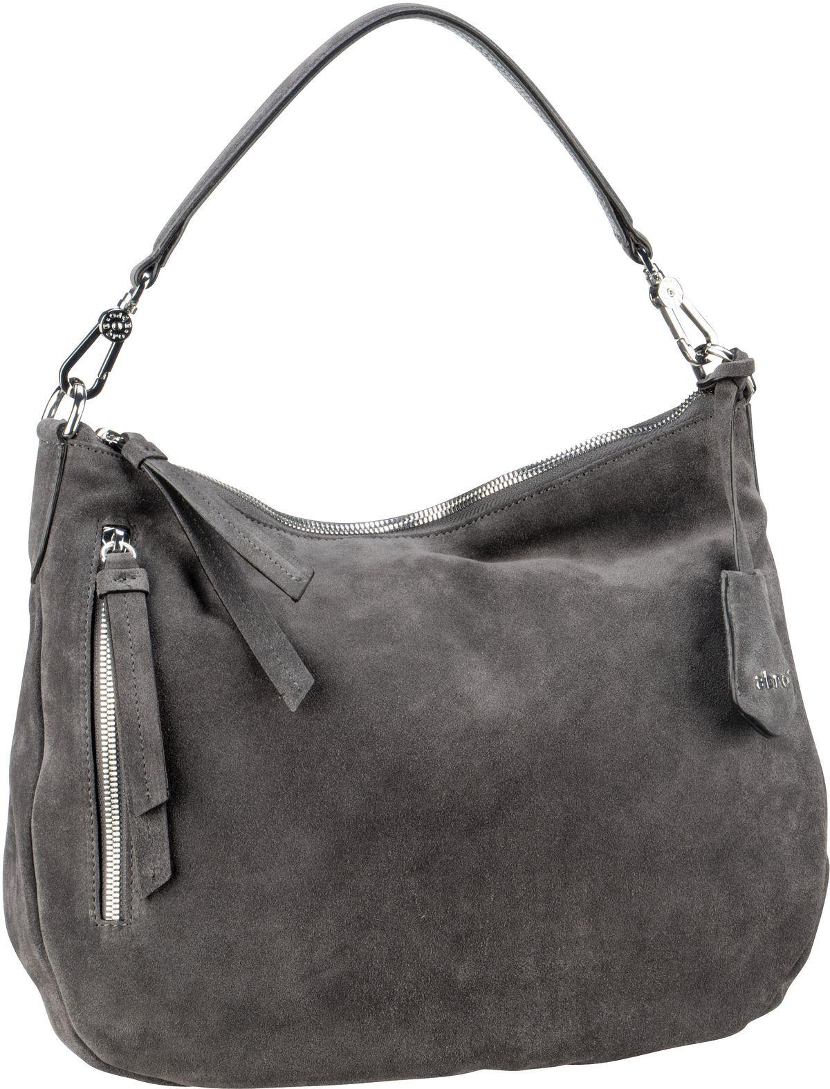 Handtasche Suede 28623 Dark Grey