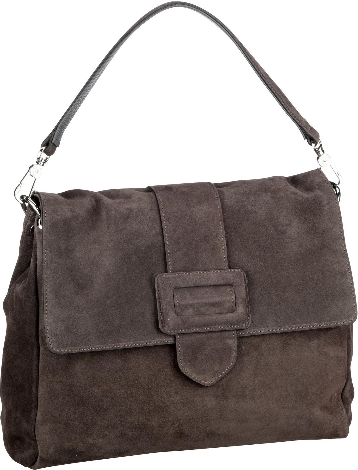 Handtasche Suede 28612 Dark Grey