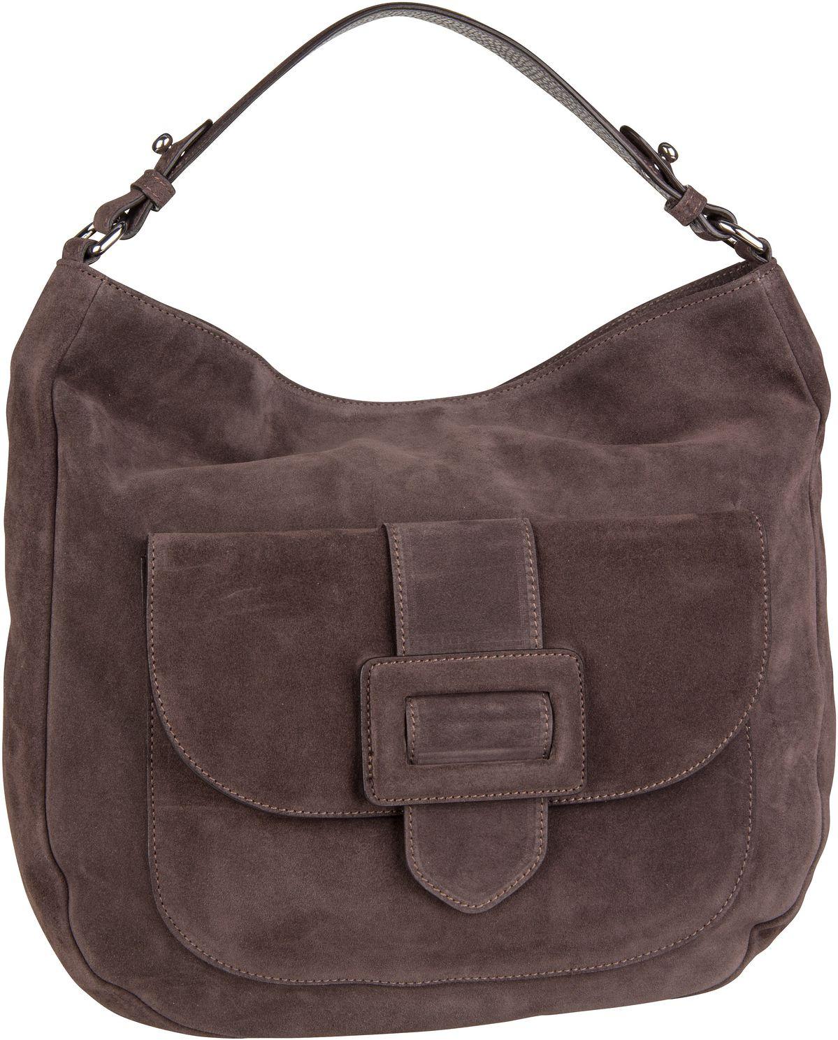 Handtasche Suede 28613 Dark Grey