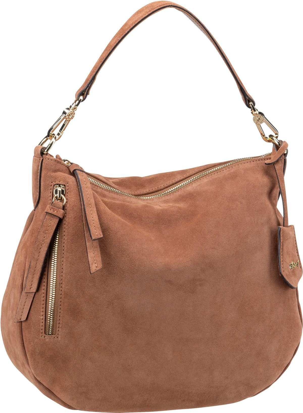 Handtasche Juna 28825 Suede Cognac