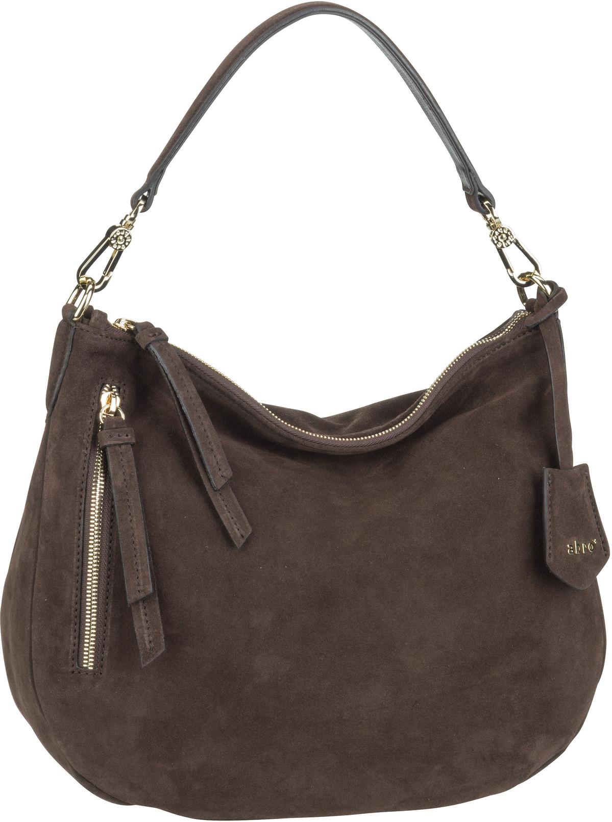 Handtasche Juna 28825 Suede Dark Brown