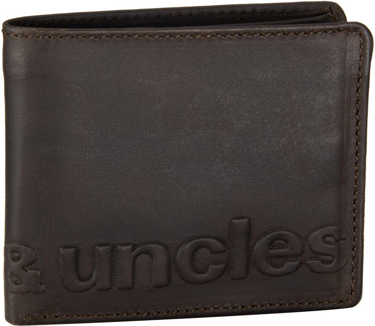 aunts & uncles Geldbörse Matt Vintage Brown Vintage Brown Logo