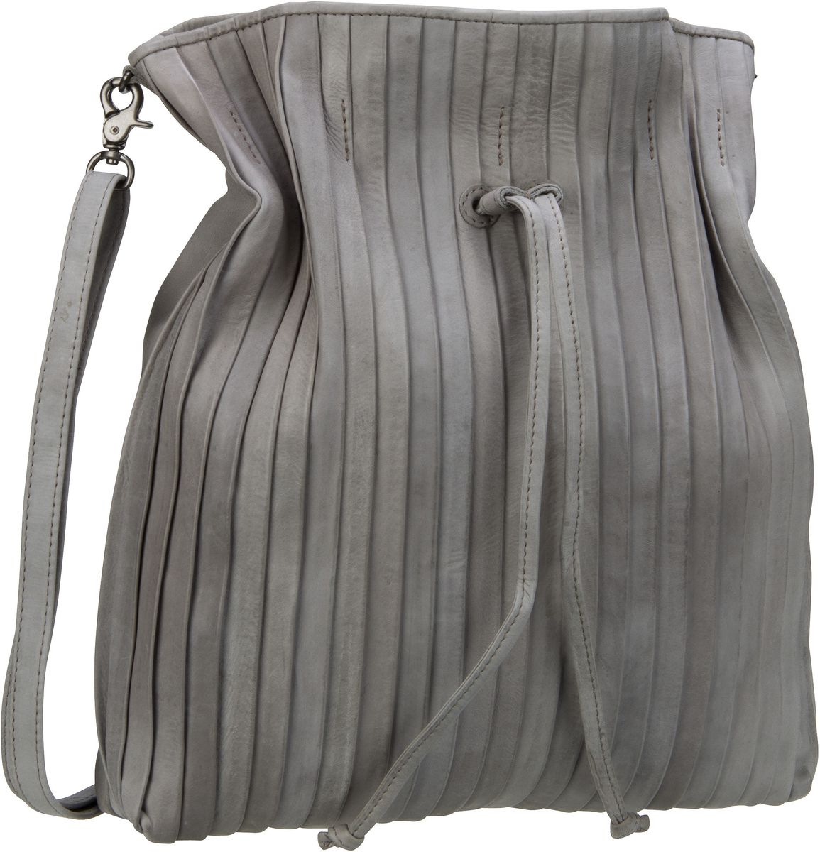 Handtasche Rosalie Pleats Feather Grey
