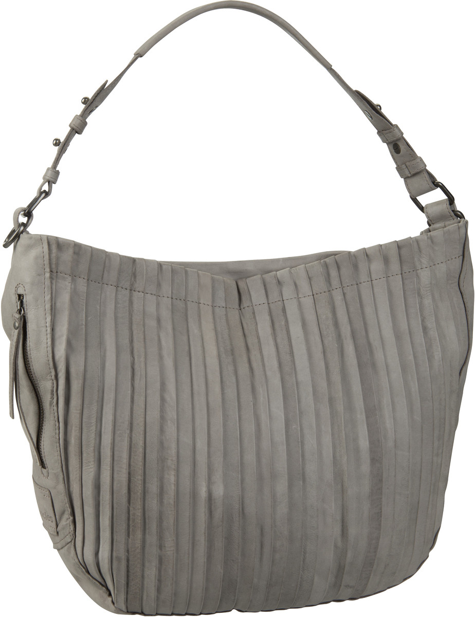 Handtasche Carrie Pleats Feather Grey