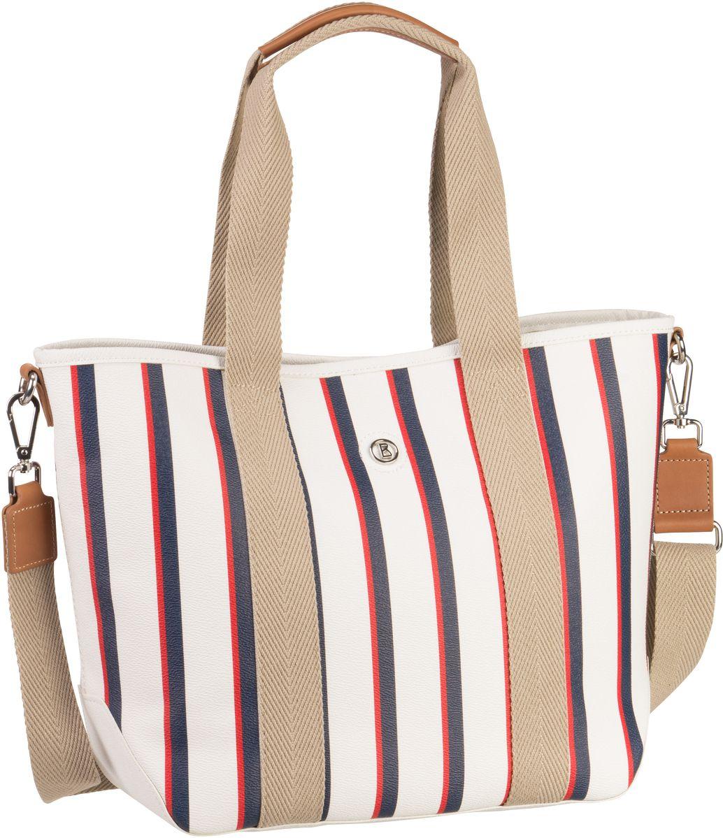 Handtaschen für Frauen - Bogner Long Island Laury Stripes (innen Beige) Handtasche  - Onlineshop Taschenkaufhaus