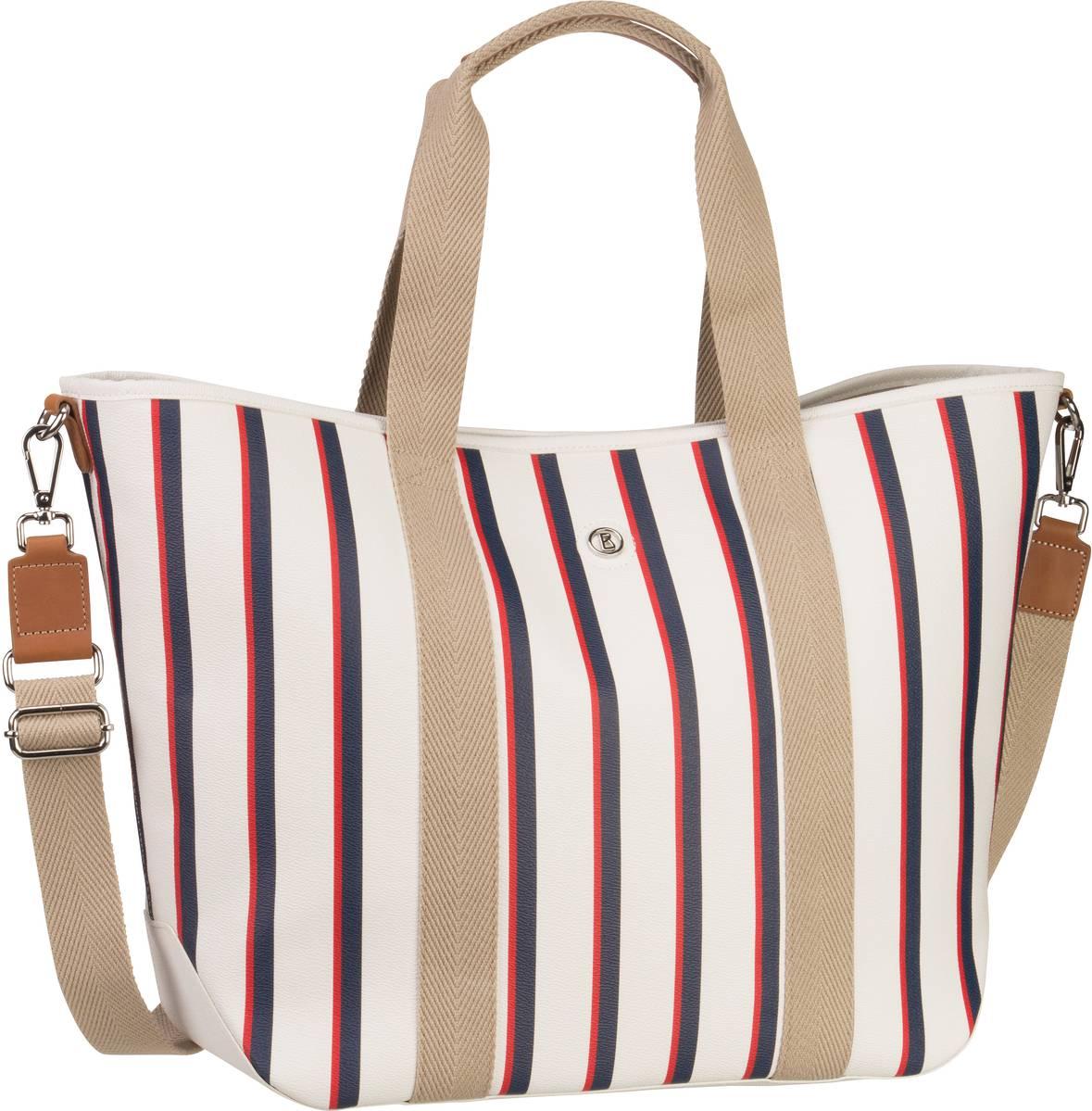Handtaschen für Frauen - Bogner Long Island Lala Stripes (innen Beige) Handtasche  - Onlineshop Taschenkaufhaus