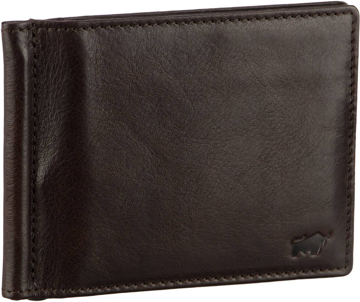 Braun Büffel Brieftasche Arezzo 81435 Dollarclip Braun