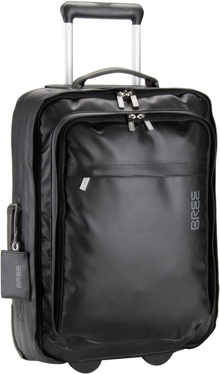 Bree Trolley + Koffer Punch 90 Black (innen: Grau)