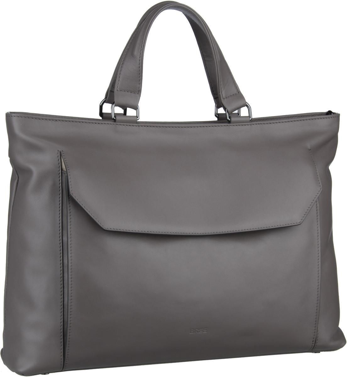 Businesstaschen für Frauen - Bree DIE ZEIT 16 Mineral Grey Aktentasche  - Onlineshop Taschenkaufhaus
