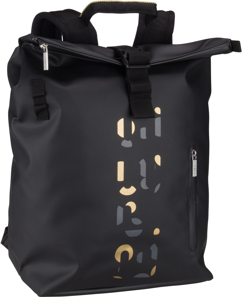 Rucksack / Daypack Punch Print 713 Black/Dark Grey/Gold