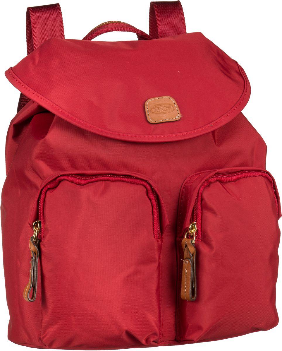Rucksaecke für Frauen - Bric's Rucksack Daypack X Travel Rucksack 43754 Rosso  - Onlineshop Taschenkaufhaus