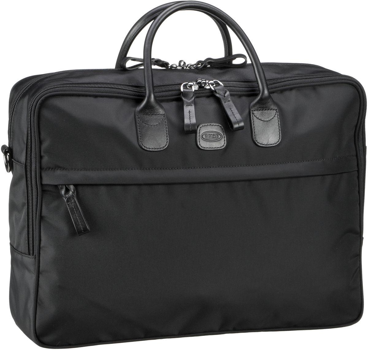 Businesstaschen für Frauen - Bric's Aktentasche X Travel Aktenmappe 45125 Nero Nero  - Onlineshop Taschenkaufhaus