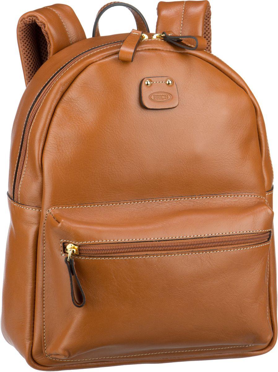 Rucksaecke für Frauen - Bric's Rucksack Daypack Life Pelle Rucksack 3290 Cuoio  - Onlineshop Taschenkaufhaus