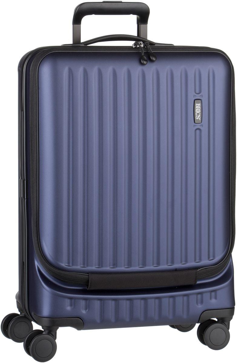 Reisegepaeck für Frauen - Bric's Trolley Koffer Riccione Trolley 8028 Blu (Matt)  - Onlineshop Taschenkaufhaus