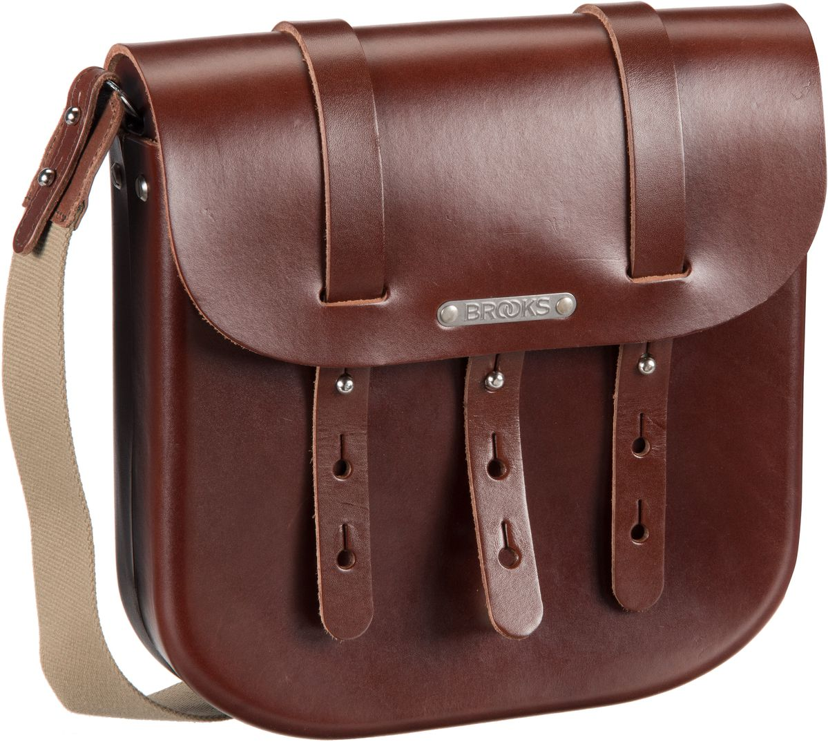 Brooks England Umhängetasche B3 Leather Bag Brown (5.5 Liter)