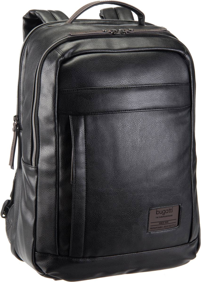 rabatt bugatti moto d rucksack 43 cm schwarz herren. Black Bedroom Furniture Sets. Home Design Ideas