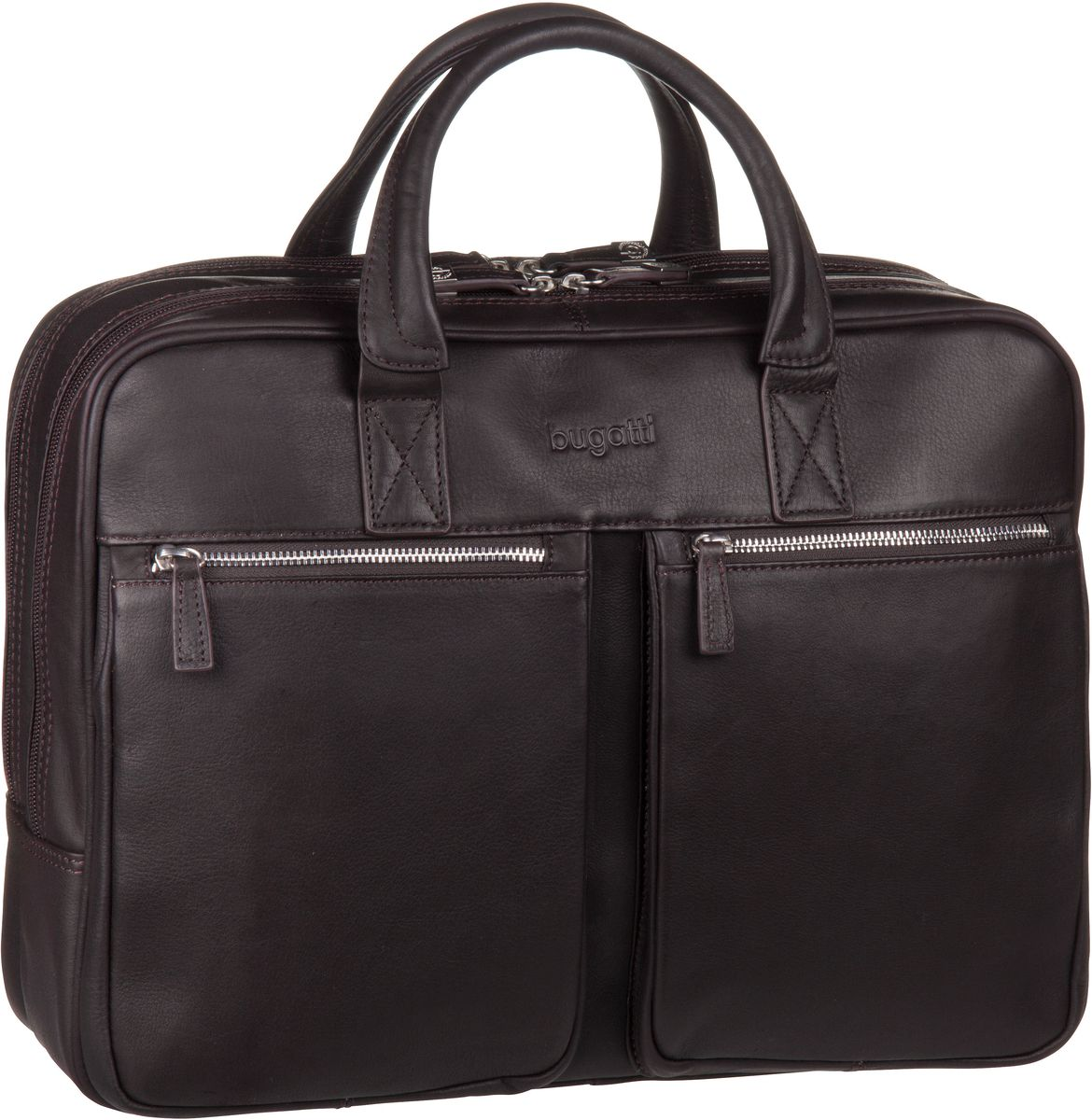 Sartoria Zip Briefcase Large Braun