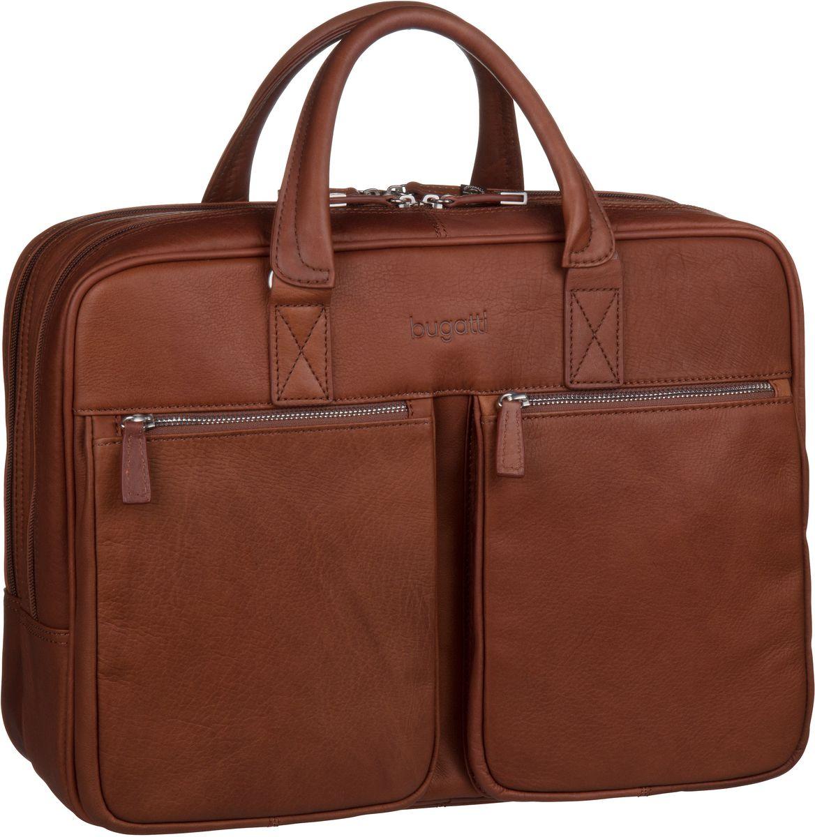 Sartoria Zip Briefcase Large Cognac