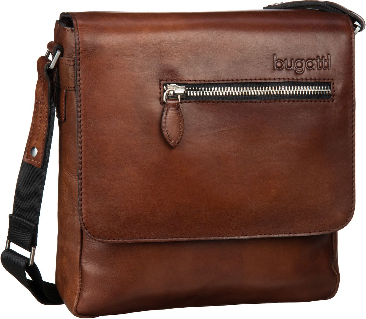 bugatti -  Laptoptasche Domus Shoulder Bag Medium Cognac
