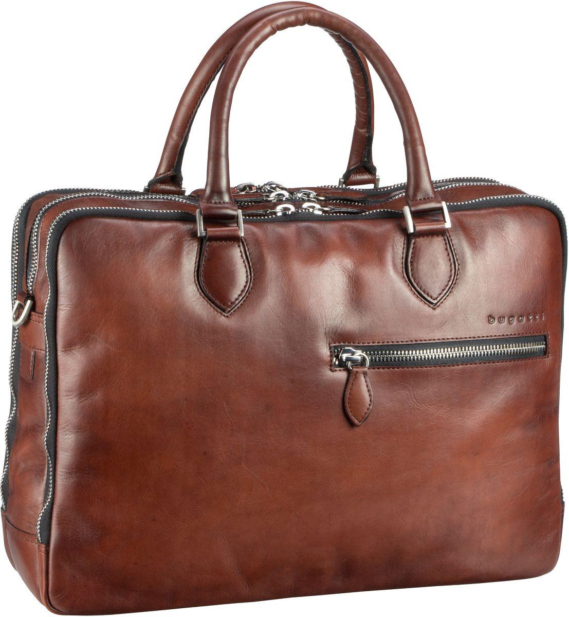 Bugatti Domus Briefcase Cognac - Aktentasche