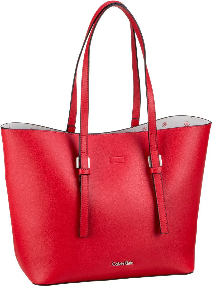 Handtasche CK Zone Medium Shopper Scarlet/CK White