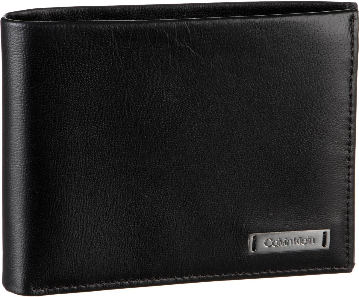 Calvin Klein Geldbörse Smooth With Plaque 5CC Coin Wallet Black