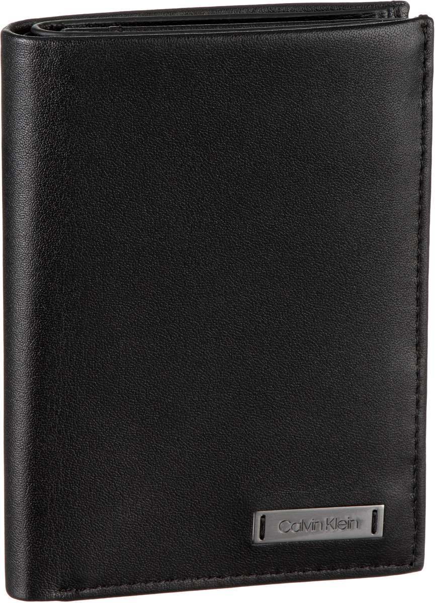 Calvin Klein Geldbörse Smooth With Plaque 8CC Coin Wallet Black
