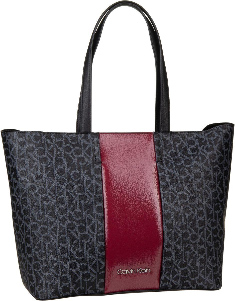Handtasche Mono Block Shopper Black Mono/Red Rock